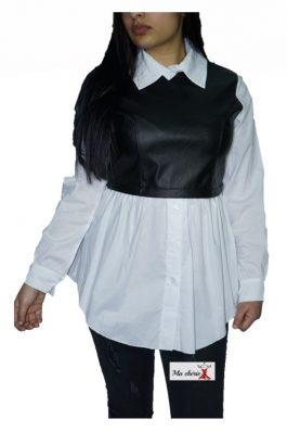 Ledertop blouse